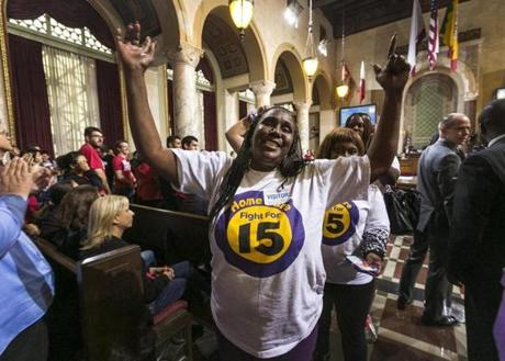 Last year, workers reacted as the Los Angeles City Council voted 13-1 to raise the minimum wage to $15 an hour by 2020, but a second vote is required for final approval because the tally was not unanimous.